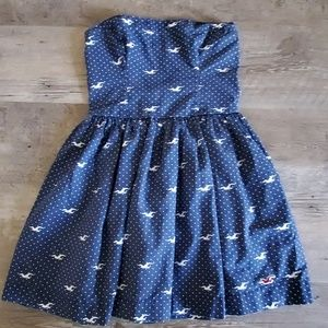 Hollister strapless dress size M